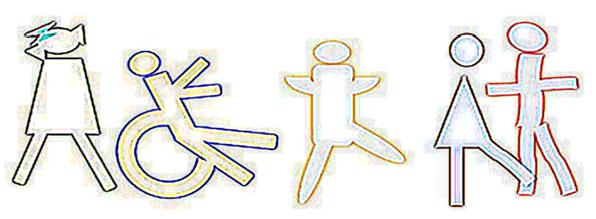 Dibujo eaquemático de niños jugando que identifica a la cabecera de esta bitácora