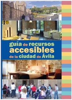 Captura de la Guía de recursos accesibles de la ciudad  de Ávila