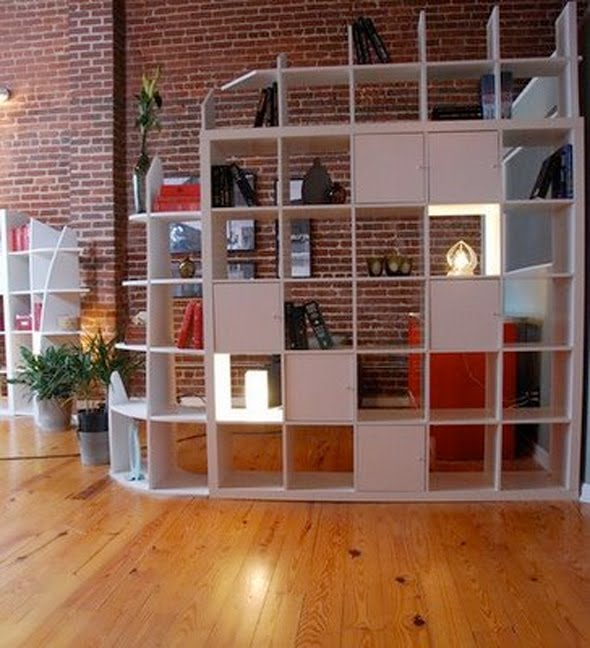 Alanna cavanagh ikea expedit bookshelf as gorgeous room divider - Bookshelves as room divider ...