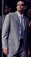 Photo of a male model wearing Hugo Boss suit