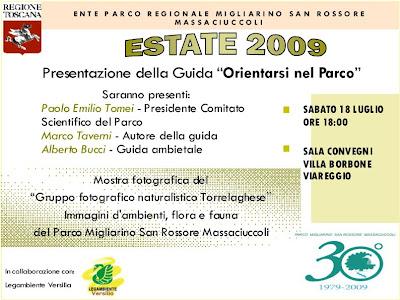 Presentazione Guida Orientarsi nel Parco Viareggio