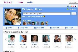 O novo formato do orkut