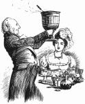 wassail bowl antique engraving