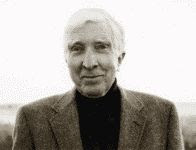 John Updike circa 2006 black and white photograph
