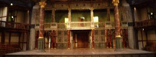 The Globe Theatre stage color photograph