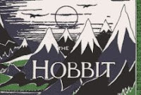 'The Hobbit' dust jacket from a design by J. R. R. Tolkien