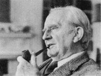 J. R. R. Tolkien black and white photograph