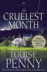 'The Cruelest Month, A Three Pines Mystery' by Louise Penny US hardcover edition front cover