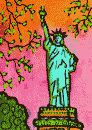 color painting of the Statue of Liberty by Lynne Neuman