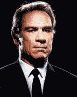 Tommy Lee Jones color photograph