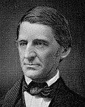 black and white photograph of Ralph Waldo Emerson