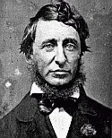 black and white photograph of Henry David Thoreau