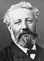 a black and white photo of Jules Verne by Nadar aka Gaspard-Félix Tournachon
