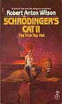 The front cover of 'Schrodinger's Cat II, The Trick Top Hat' by Robert Anton Wilson.