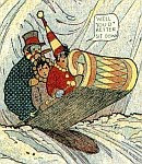 A section of one color panel from Little Nemo by Winsor McCay Sunday 02-Feb-1907.