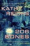 A color photo of the front cover of '206 Bones' by Kathy Reichs.