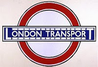 A color photo of a London Transport Johnston roundel with bar design circa 1933.
