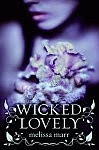 A color photo of the front cover of the US edition of 'Wicked Lovely' by Melissa Marr.