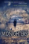 A color photo of the front cover of 'Midnighters' by Scott Westerfeld.
