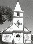 black and white photo of the St. Stephen's Mission on the Wind River Reservation
