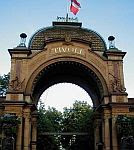 color photo of the 1874 entrance to the Tivoli Gardens in Copenhagen