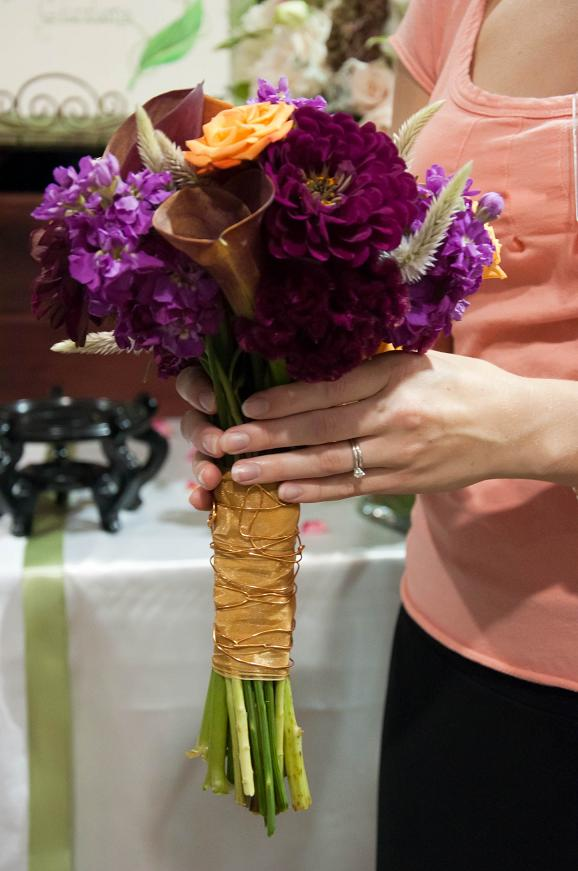 Wedding Flowers From Springwell October Wedding Bouquets In Jewel And