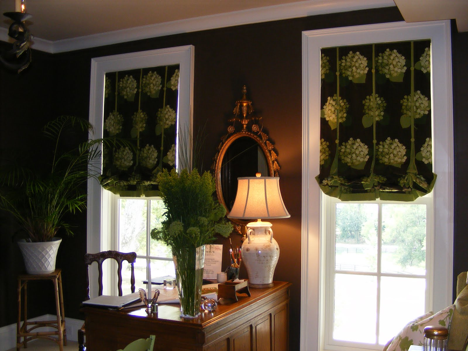 Adorn design 39 s blog 2008 bellarmine showhouse a twist on - Narrow window curtain ideas ...