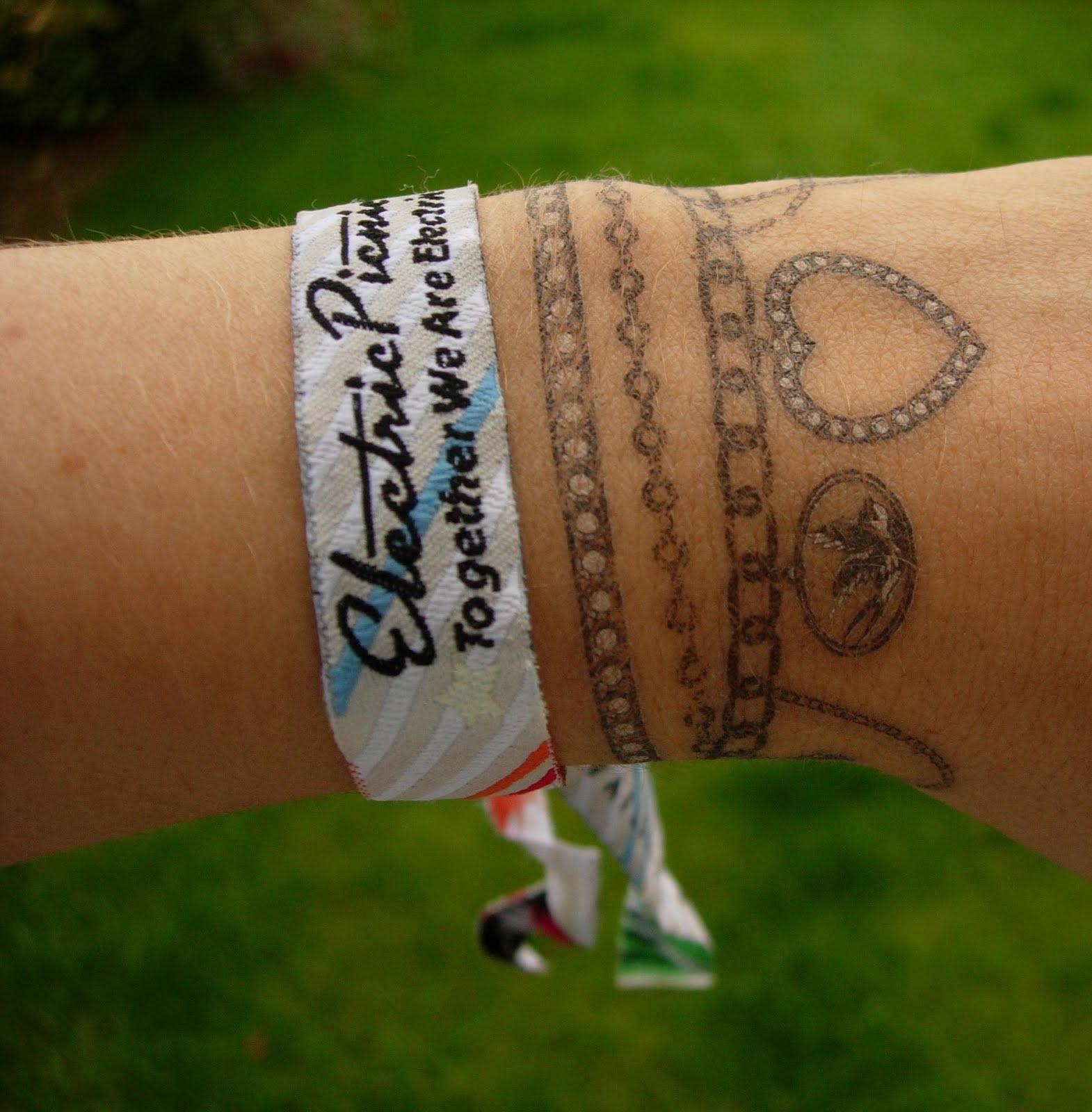 Фото татуировки в виде браслетов из