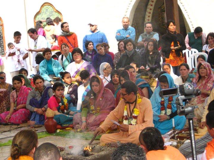 Sanyassi Vaisnava Ashram, receiving the sacred order under the guidance of ...