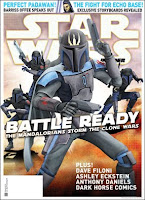 Cover of Star Wars magazine featuring Mandalorian Death Watch