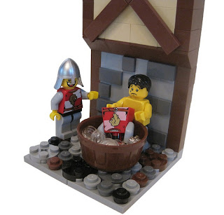 Matthew Hurt's LEGO Kingdoms Pink Wash Vignette