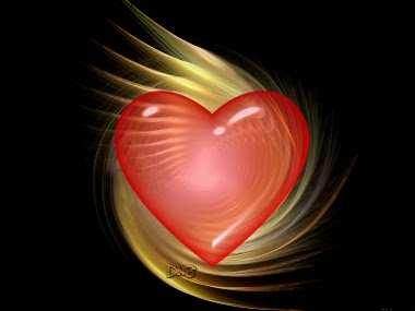 coração vermelho dentro da escuridão