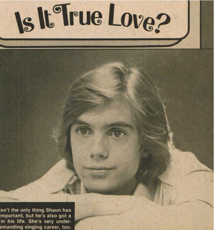 Teen idol Shaun Cassidy in hypnotic dream state, transfixed by telepathic ...