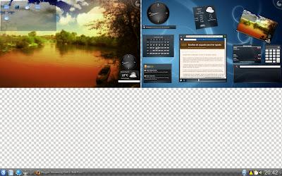Zwei Desktop - Plasmoids