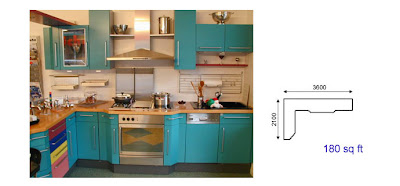 L-line kitchen design