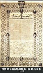 Acta de la Revolución del 20 de Julio  de 1810