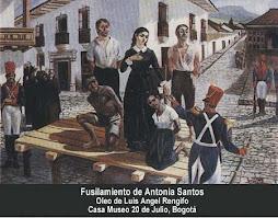 Fusilamiento de  Antonia Santos