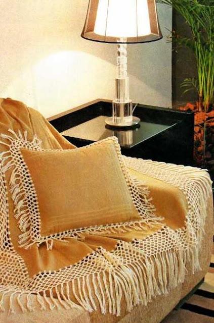 Regina receitas de croche e afins mantas para sof - Mantas para el sofa ...