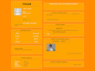 Orange Myspace Layouts