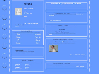 Plain Blue Myspace Layouts