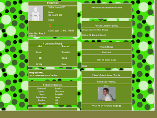 Skinny Myspace Layouts