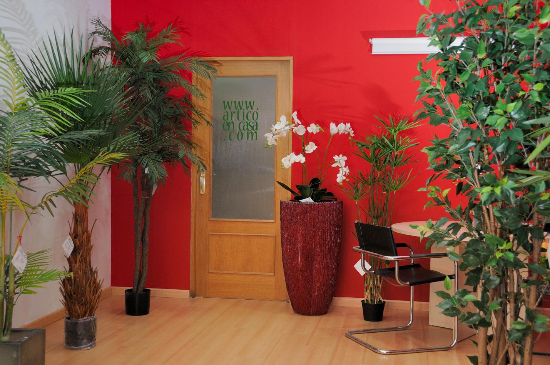 Decoraci n artico ideas y consejos con flores y plantas artificiales contacto - Decoracion con plantas artificiales ...