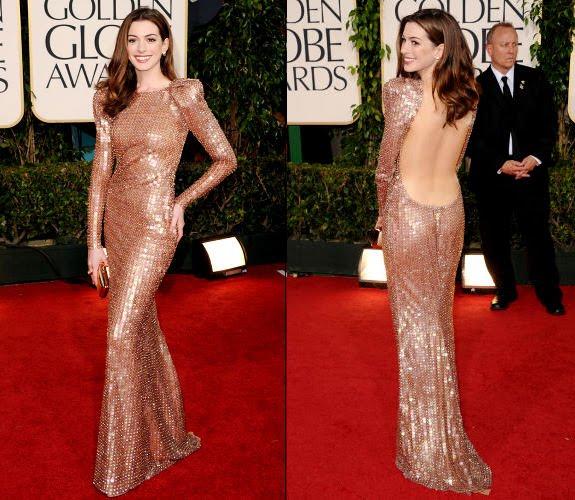 anne hathaway vivienne westwood dress. Anne Hathaway in her Armani