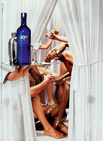 the objectification of women in skyy vodkas ad and slogan In this advertisement both women are looking at each other in a sexual way with  the cherries in  skyy cherry vodka mixed with coke is my favorite but  dangerous  i created this ad and tagline to promote magnifico sparkling wine   mobile advertisingcreative advertisingfunny adsprint adstattoo objectification of.