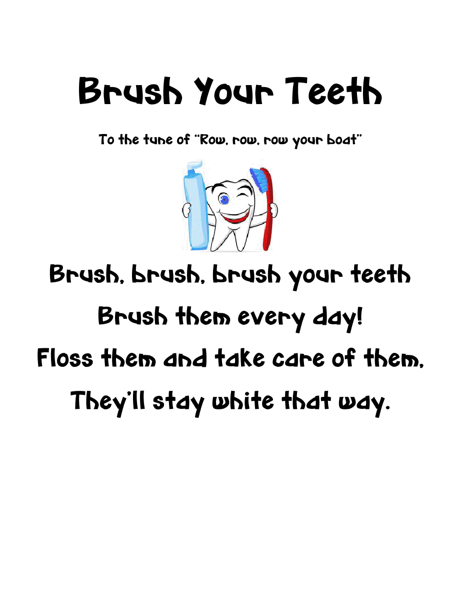 Here are some Math problems to go along with the Dental Health Theme.