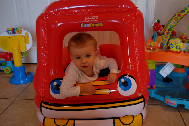 Little Bear Playing in his FireTruck