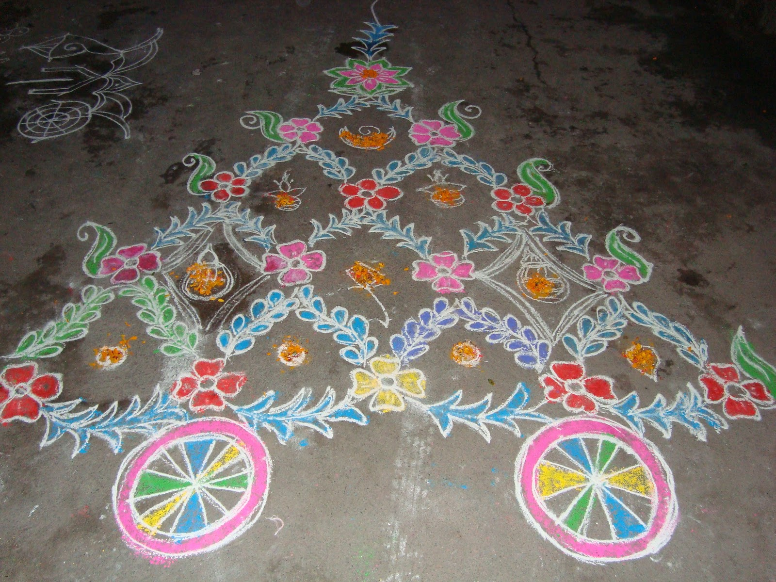 sankranti rangoli designs with colours, sankranti telugu