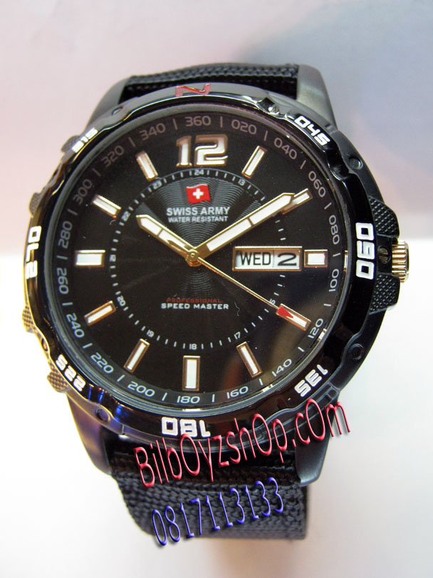 harga jam swiss army original on SWISS ARMY SPEED MASTER FULLBLACK
