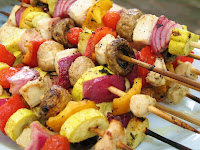 Grilled Chicken and Veggie Skewers