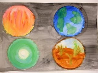 Four Elements Art : Art therapy spot u2013 the four elements